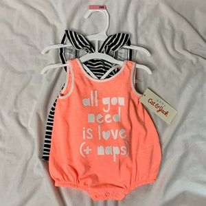 Newborn Girl Tank Top and Bodysuit Set